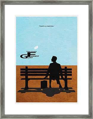 Forrest Gump Framed Print by Ayse Deniz