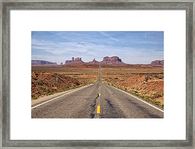 Forrest Gump Monument Valley View Framed Print by Melany Sarafis