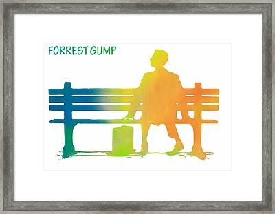 Forrest Gump Poster Framed Print by Dan Sproul