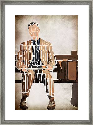 Forrest Gump - Tom Hanks Framed Print by Ayse Deniz