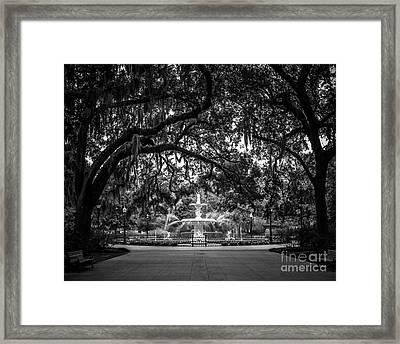 Forsyth Park Framed Print by Perry Webster