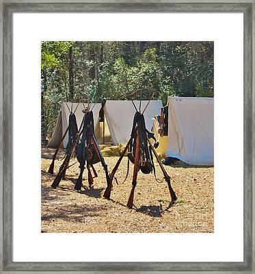 Fort Anderson Civil War Re Enactment 3 Framed Print by Jocelyn Stephenson