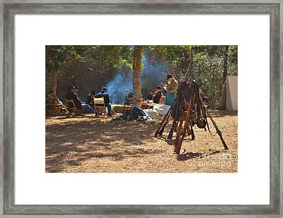 Fort Anderson Civil War Re Enactment 4 Framed Print by Jocelyn Stephenson