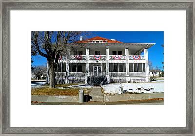 Fort Bayard Commandant's House Framed Print by Feva  Fotos