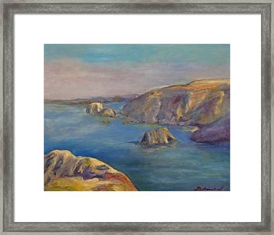 Fort Bragg Coastline Framed Print by Barbara Anna Knauf