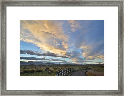 Fort Collins Sunset Framed Print by Ray Mathis