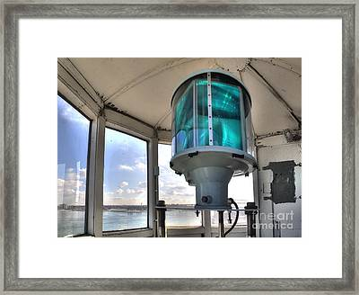 Fort Gratiot Lighthouse Lantern Room Framed Print by Twenty Two North Photography