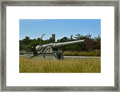 Fort Miles 8 Inch Gun And Fct7 Framed Print by Bill Swartwout