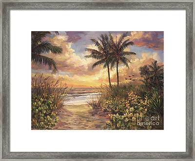 Fort Myers Sunset Framed Print by Laurie Hein