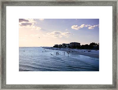 Fort Myers Sunset Framed Print by Tony Boyajian