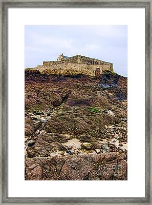 Fort National In Saint Malo Brittany Framed Print by Olivier Le Queinec