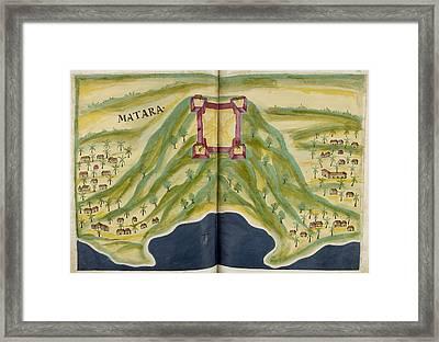 Fort Of Matara Framed Print by British Library