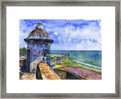 Fort San Juan Puerto Rico Framed Print by John D Benson