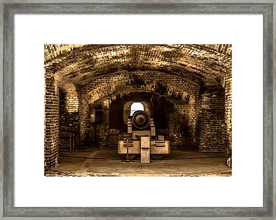 Fort Sumter Famous Cannon Framed Print by Optical Playground By MP Ray