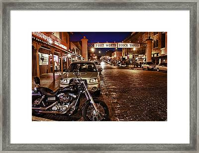 Fort Worth Stock Yards Framed Print by John Hesley