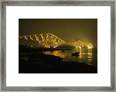 Forth Rail Bridge Scotland Framed Print by Buster Brown