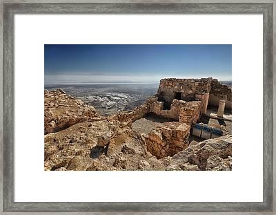 Fortress Of Masada Israel 1 Framed Print by Mark Fuller