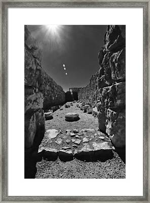 Fortress Of Masada Israel 2 Framed Print by Mark Fuller