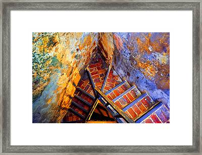Fortress Steps Framed Print by Stephen Anderson