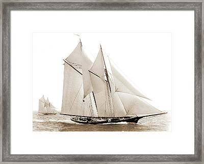 Fortuna, Fortuna Schooner, Morgan Cup Race Framed Print by Litz Collection