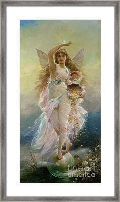 Fortuna Framed Print by Jean Francois Armand Felix Bernard