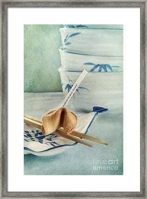 Fortune Cookie Framed Print by Priska Wettstein