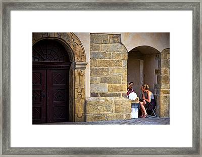 Fortune Telling  Framed Print by Joanna Madloch