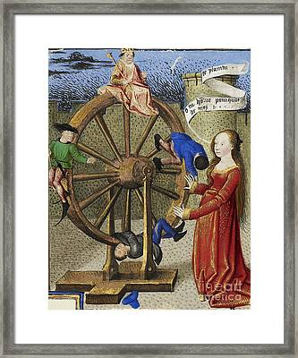 Fortune Turning The Wheel Framed Print by Getty Research Institute
