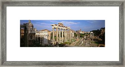 Forum, Rome, Italy Framed Print by Panoramic Images