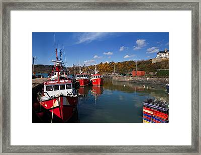 Foshing Boats In The Harbour Framed Print by Panoramic Images