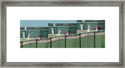 Foul Ball 3 Panel Composite Framed Print by Thomas Woolworth