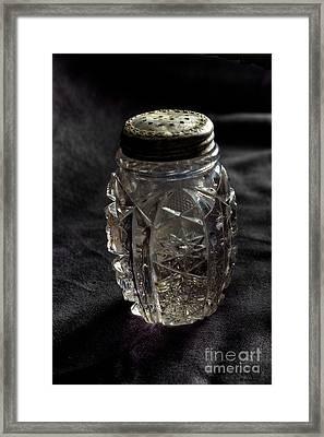 Found  Salt Shaker Framed Print by   Joe Beasley