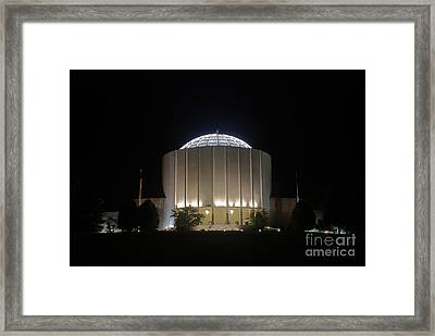 Founders Hall At Night Framed Print by Mark Dodd