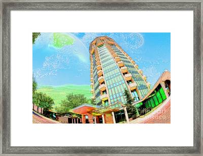 Founder's Tower In Oklahoma City Framed Print by Liane Wright