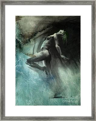 Fount I - Textured Framed Print by Paul Davenport