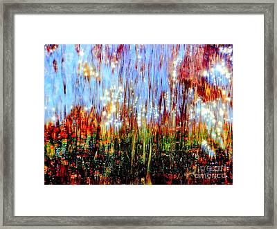 Water Fountain Abstract 3 Framed Print by Ed Weidman