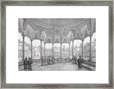 Fountain And Kiosk Of The Garden Of Choubrah Framed Print by Pascal Xavier Coste
