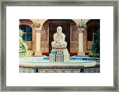 Fountain At Cafe Del Rey Moro Framed Print by Mary Helmreich