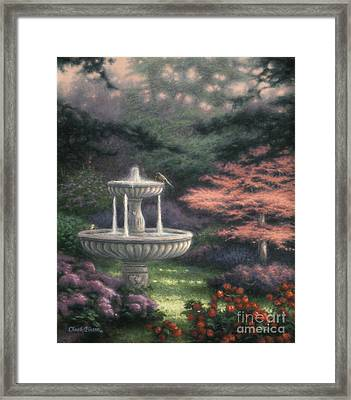 Fountain Framed Print by Chuck Pinson