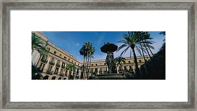 Fountain In Front Of A Palace, Placa Framed Print by Panoramic Images