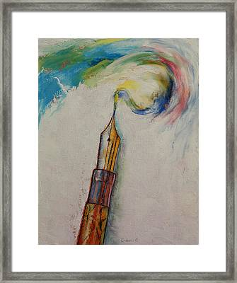 Fountain Pen Framed Print by Michael Creese