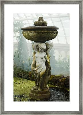 Fountain Statue Framed Print by Garry Gay