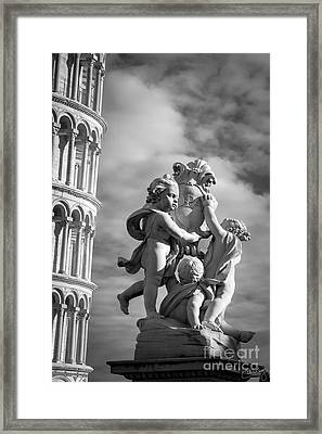 Fountain With Angels Framed Print by Prints of Italy
