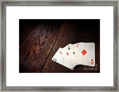 Four Aces Framed Print by Olivier Le Queinec