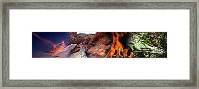 Four Elements Framed Print by Panoramic Images