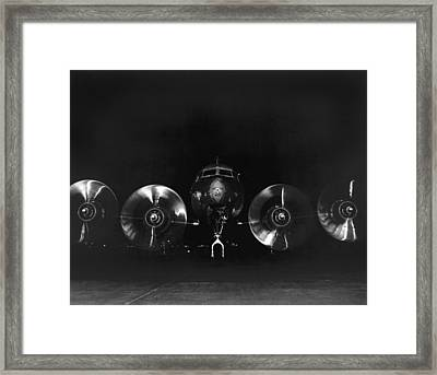 Four Engine Airplane Framed Print by Underwood Archives