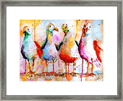 Four In A Row Framed Print by Steven Ponsford