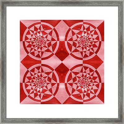 Four Mandalas Framed Print by Sumit Mehndiratta