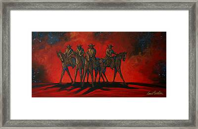 Four On The Hill Framed Print by Lance Headlee