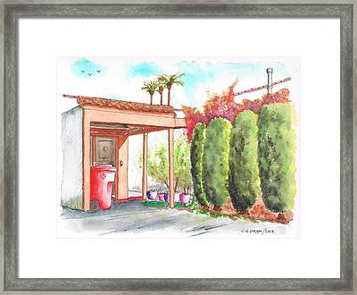 Four Round Cypresses In West Hollywood - California Framed Print by Carlos G Groppa